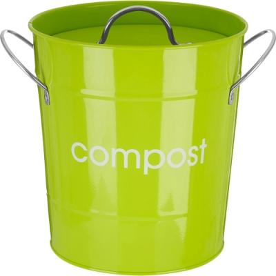 《Premier》雙柄廚餘桶(綠3L)