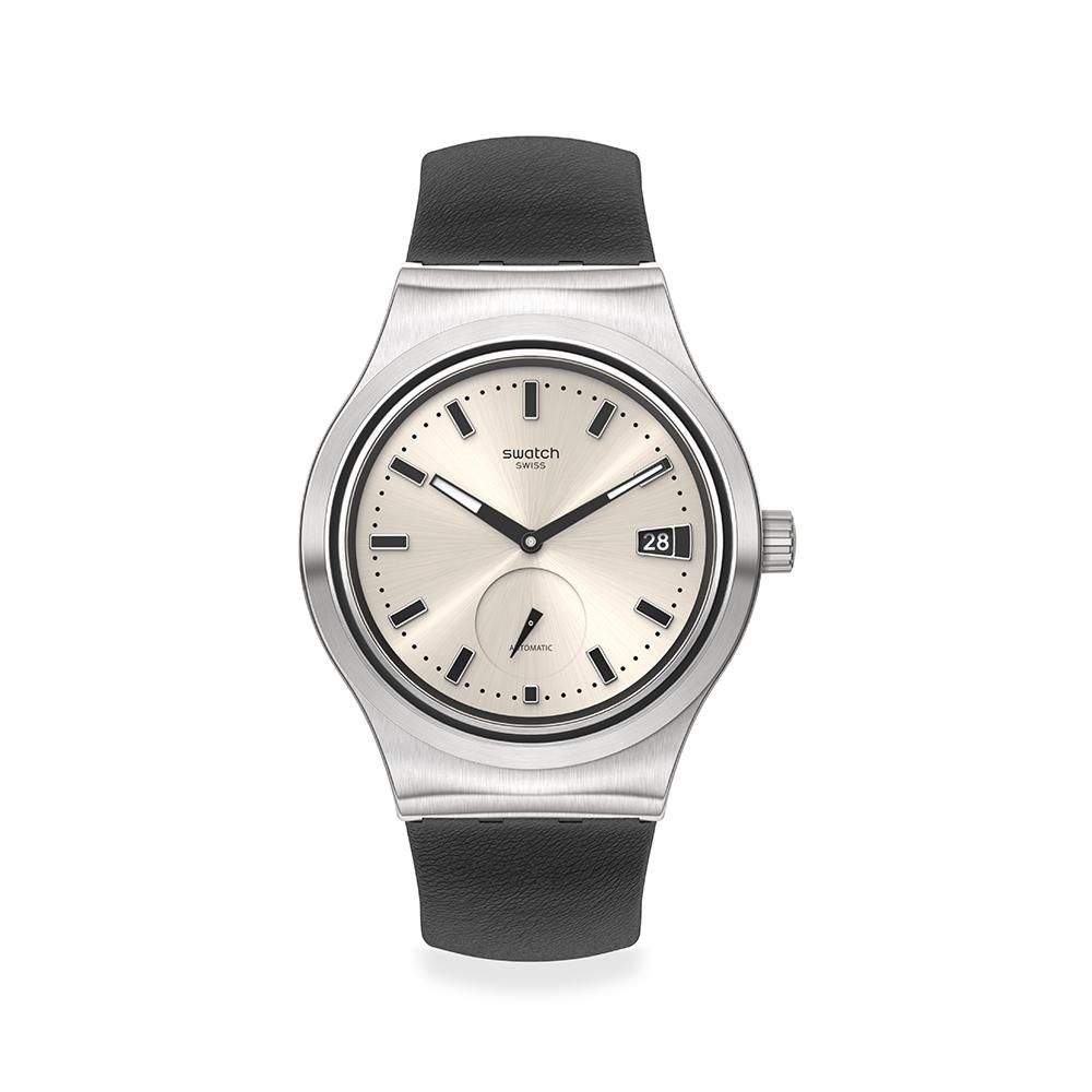 SWATCH 金屬 Sistem51機械錶UNAVOIDABLE 絕對紳士(42mm)
