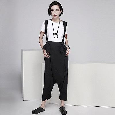夏季新款哈倫背帶褲大襠七分寬鬆連身褲-設計所在 MP1828