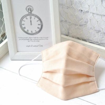 TEMARIYA 日本製 可水洗手作立體口罩M(素色)-粉橘