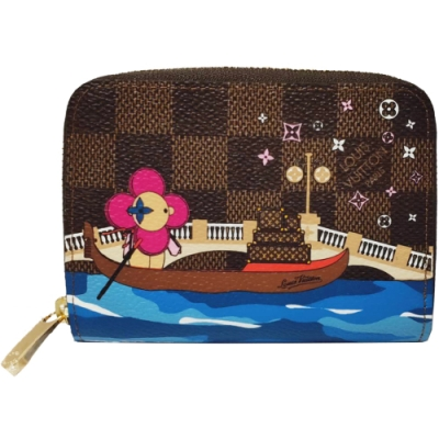 LV N60258 限量吉祥物Vivienne插圖卡片/零錢包(咖啡棋盤格)