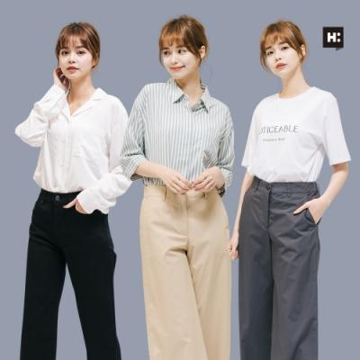 [時時樂]H:CONNECT 韓國品牌 女裝- 韓系顯瘦寬褲 -四款