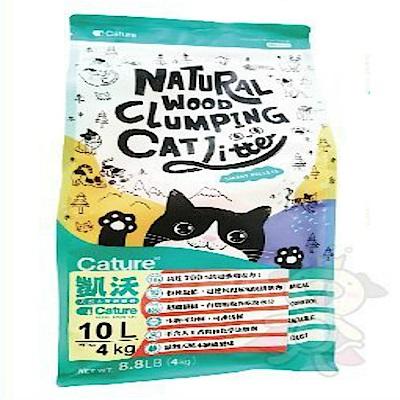 Cature凱沃《天然木凝結貓砂》10L/包x2包組