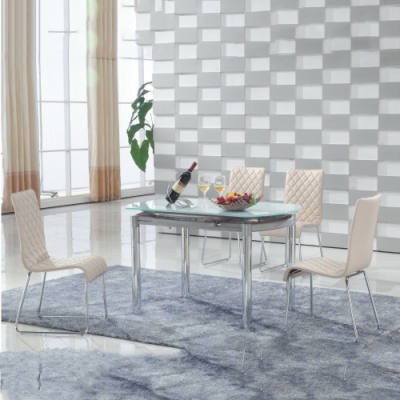 MUNA 普都鐵製皮餐椅/休閒椅 43X43X92cm