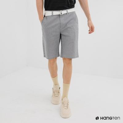 Hang Ten-男裝-REGULAR FIT附腰帶短褲-灰色