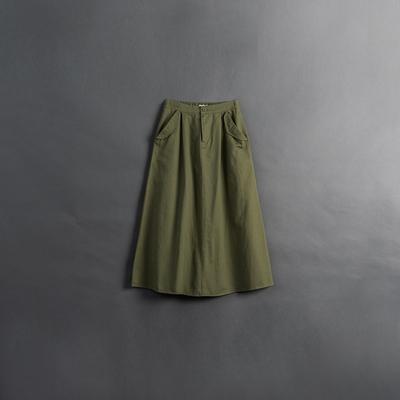 QUEENSHOP 女裝 親子系列 口袋側蓋設計長裙 兩色售 現+預【03020996】