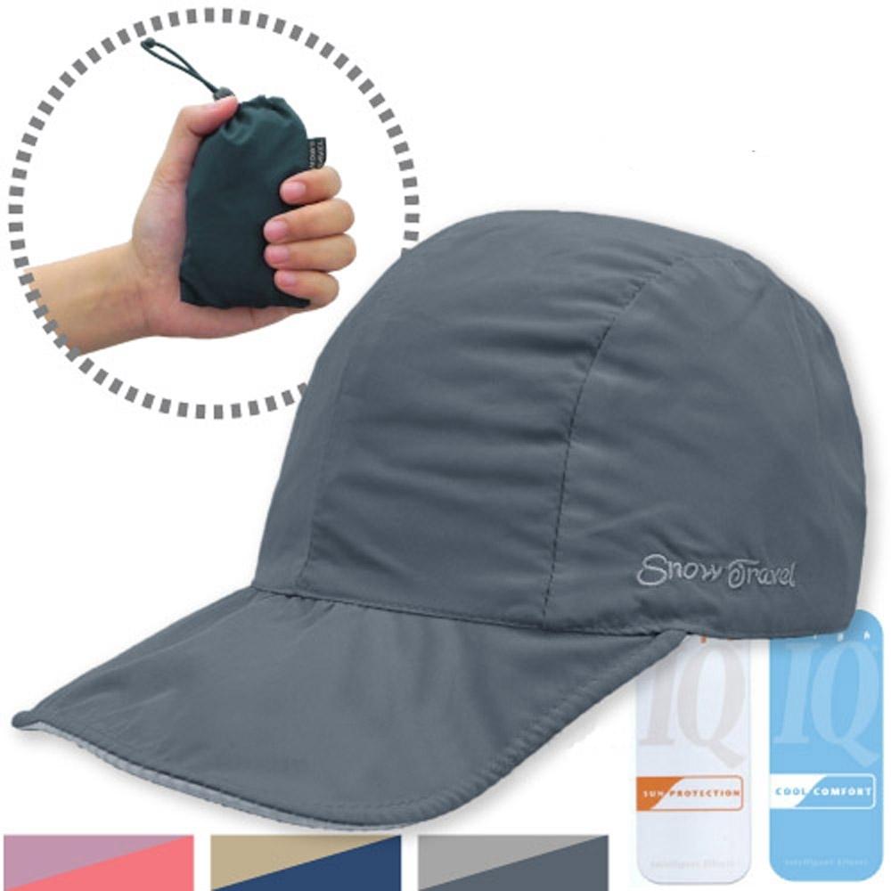 SNOW TRAVEL 雙面可收納棒球帽(正反雙色)_深灰/淺灰