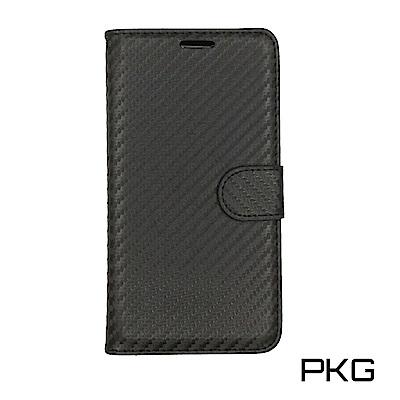 PKG 紅米NOTE4X 側翻式皮套-精選系列-類碳纖紋皮套-黑