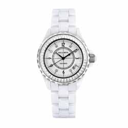 Kelaimiya 克萊米亞 閃耀奢華精密陶瓷腕錶【白色/白陶/白面】
