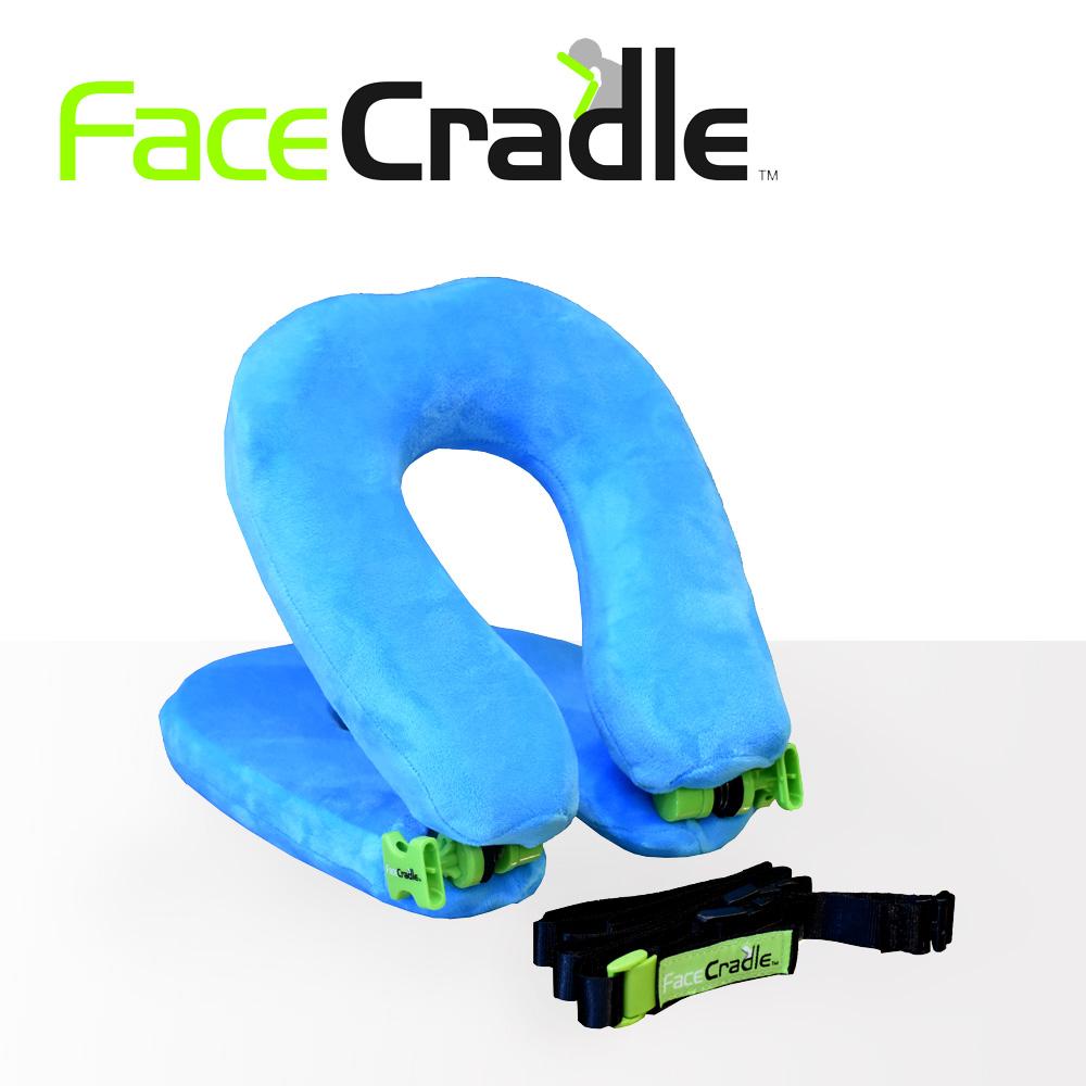 FaceCradle Lite 多功能旅行枕 / 午睡枕 / 護頸枕-輕巧進化版(天藍)