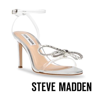 STEVE MADDEN-JAMBOREE-J 蝴蝶結水鑽細跟高跟鞋-銀色
