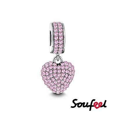 SOUFEEL索菲爾 925純銀珠飾 粉色邂逅 吊飾