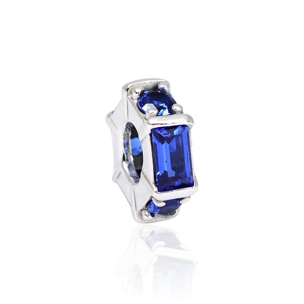 Pandora 潘朵拉 魅力幾何藍水晶 純銀墜飾 串珠
