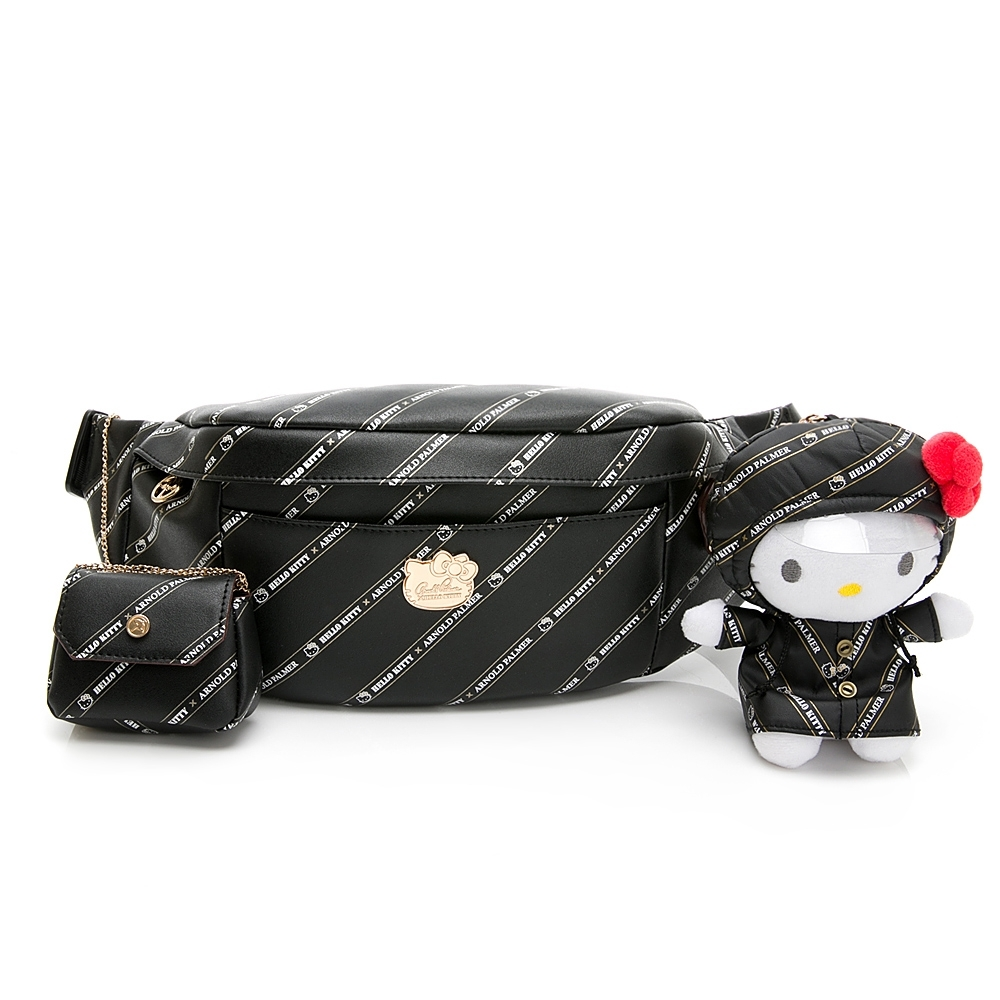 Hello Kitty聯名- 腰包可單肩背 Trendy Master系列-黑色