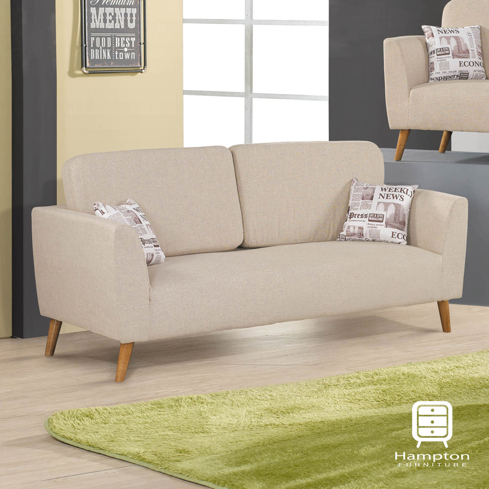 漢妮Hampton尤妮絲系列布面三人沙發