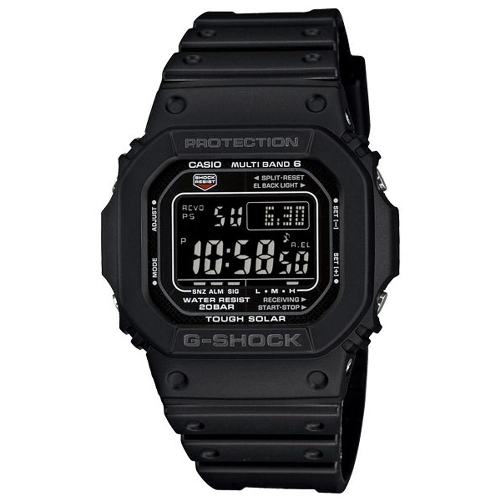 G-SHOCK 經典太陽能電波運動錶(GW-M5610-1B)-黑/46.7mm