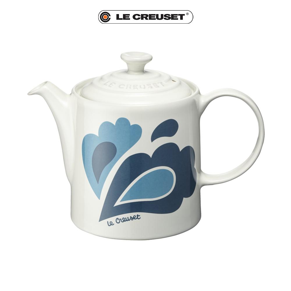 LE CREUSET 瓷器咖啡壺 (孔雀系列) product image 1
