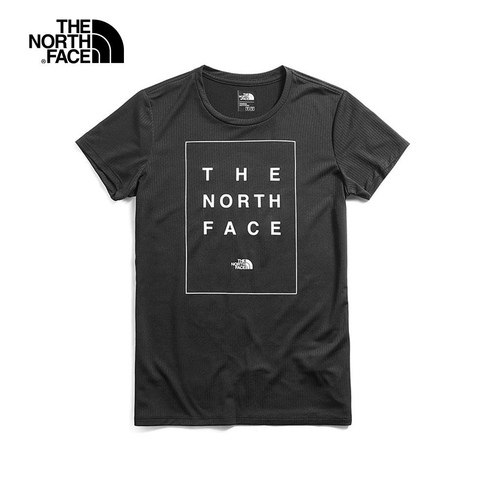 The North Face北面女款黑色透氣T恤|3V94JK3