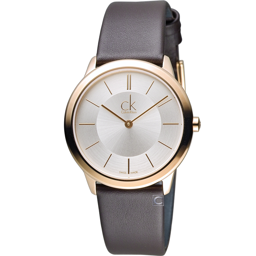 Calvin Klein Minimal 俐落時尚腕錶(K3M226G6)