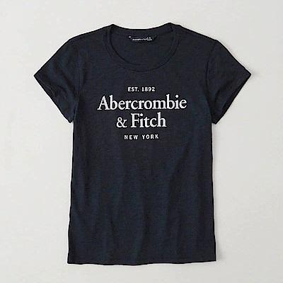 AF a&f Abercrombie & Fitch 女 短袖 T恤 藍 0818