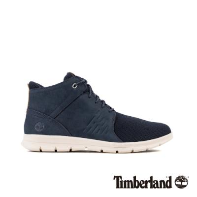 Timberland 男款海軍藍磨砂革休閒鞋|A24KP