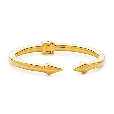 VITA FEDE 義大利品牌 迷你鉚釘金色C式手環手鍊