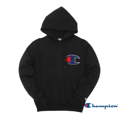Champion AS Big C Logo連帽Tee 黑色