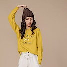 IREAL反光燙字溫暖針織毛衣連帽上衣