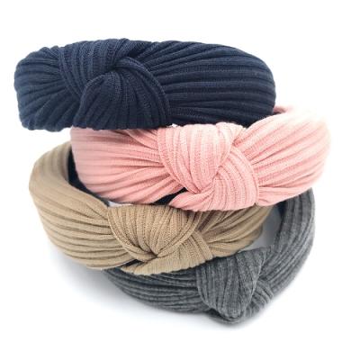 Hera 赫拉 韓式百搭純色布藝編織交叉髮箍-4色