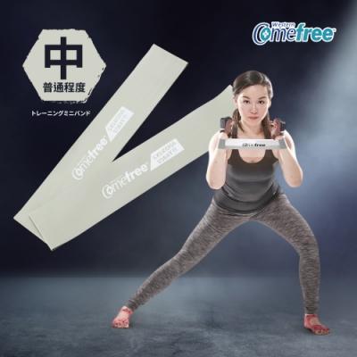 Comefree 天然乳膠橡膠肌力鍛鍊圈(2入)台灣製-中階灰色