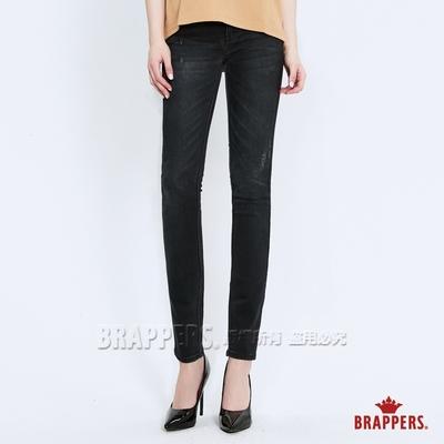 BRAPPERS 女款 新美腳ROYAL系列-低腰彈性skinny窄管褲-黑灰