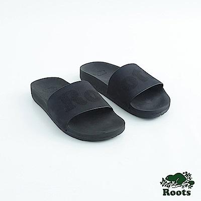 Roots女鞋- 經典皮革輕便鞋-黑