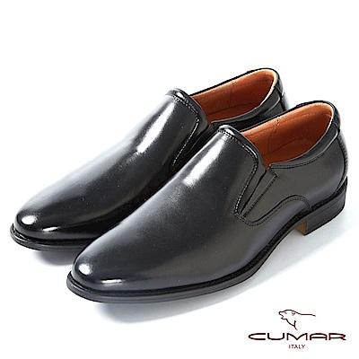 CUMAR】舒適真皮 俐落簡約正式皮鞋-黑