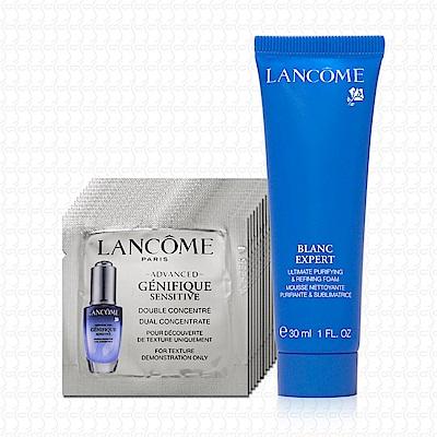 LANCOME蘭蔻 超進化肌因活性安瓶1mlx12+精華洗面霜30ml
