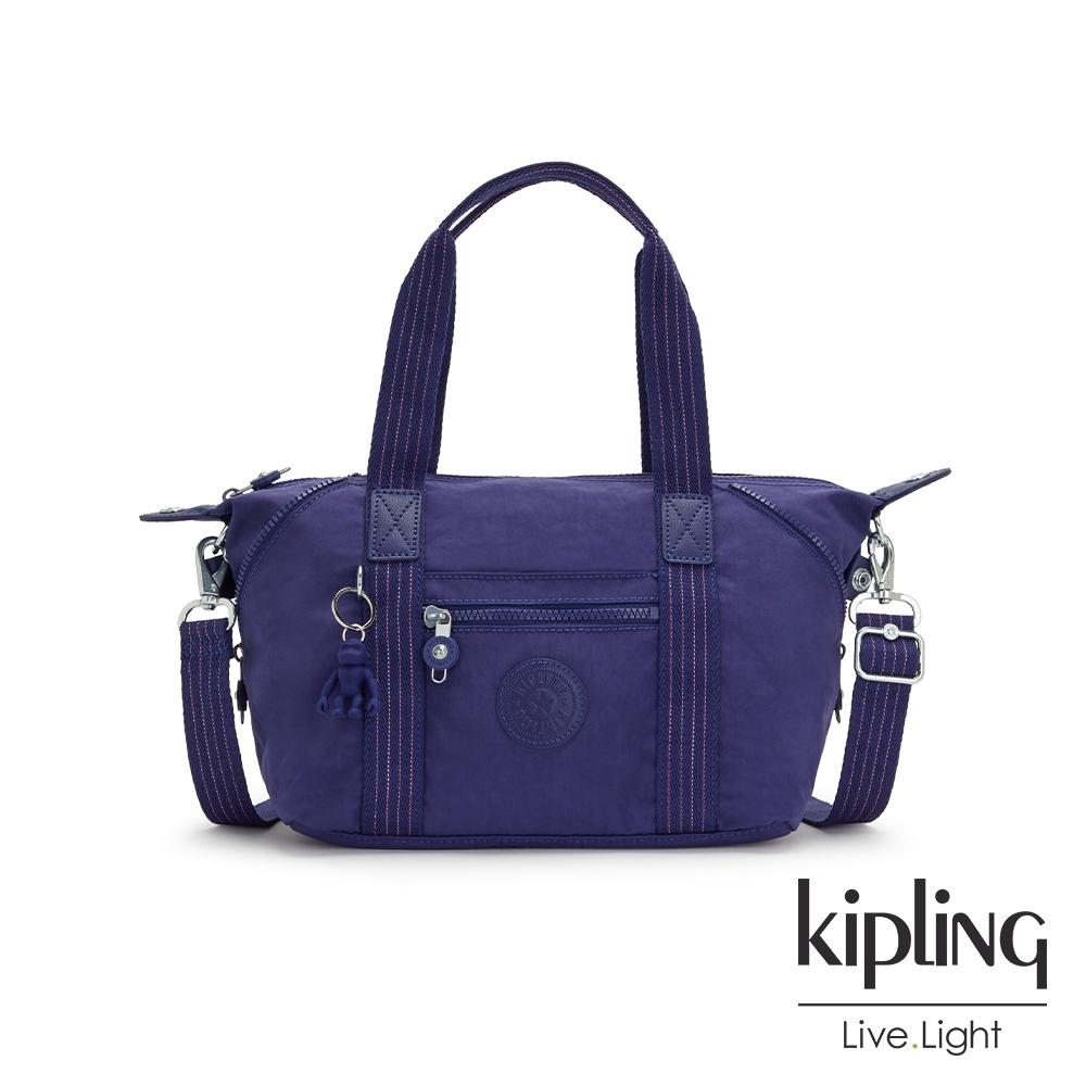 Kipling 深邃銀河藍手提側背包-ART MINI