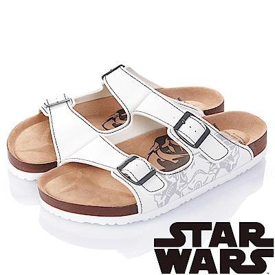 (雙11)StarWars 星際大戰-黑武士 減壓腳床型拖鞋-白