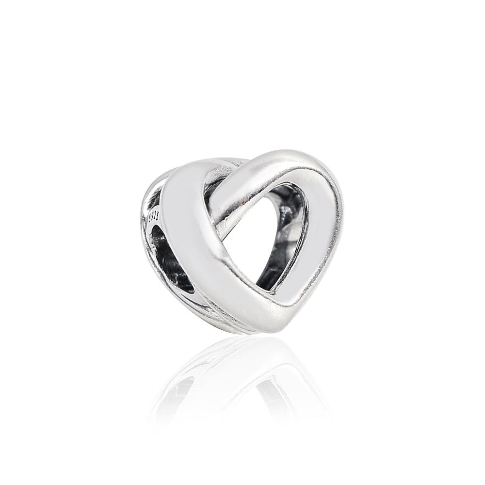 Pandora 潘朵拉 魅力扭結愛心 純銀墜飾 串珠