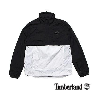 Timberland 男款黑色SLS立領可收納套衫