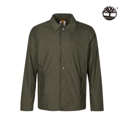 Timberland 男款軍綠色輕量防潑水透氣夾克 A24JV