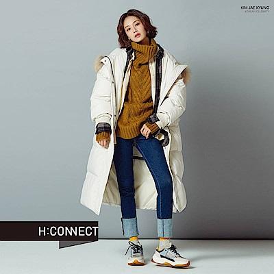H:CONNECT 韓國品牌 女裝-翻領麻花針織毛衣-綠