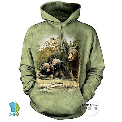 摩達客 美國The Mountain 黑熊家族 中性套頭長袖連帽T恤