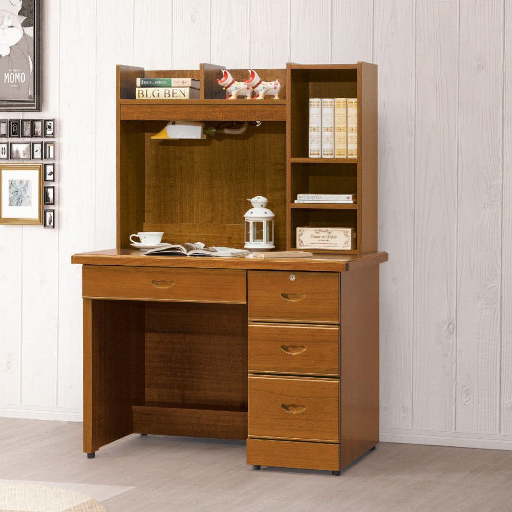 AS-莎莉柚木3.5尺書桌-105x57x144cm