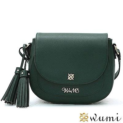 WuMi 無米 雪莉爾流蘇馬鞍包  棕櫚綠