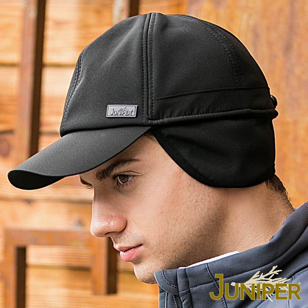 JUNIPER 戶外防水防風刷毛加絨保暖護耳運動棒球冬帽