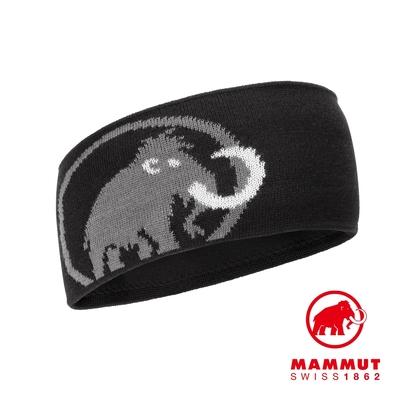 【Mammut】Tweak Headband 保暖針織LOGO頭帶 黑/鈦金灰 #1191-03451