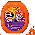 Tide 三效合一 濃縮洗衣膠球(春天氣息) 81入