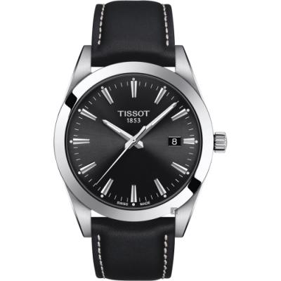 TISSOT 天梭Gentleman 紳士石英手錶-40mm T1274101605100