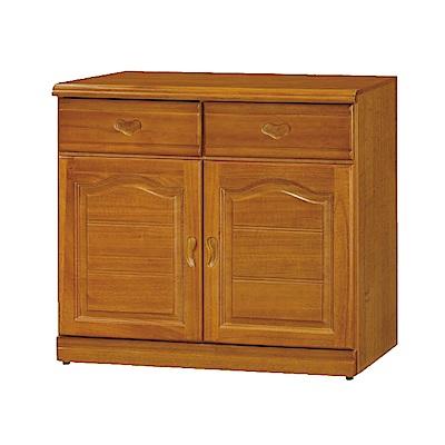 綠活居 尼圖時尚2.7尺實木餐櫃/收納櫃-81x42x81cm-免組