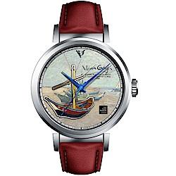 梵谷Van Gogh Swiss Watch梵谷經典名畫男錶(I-SLMF-09)-標誌船