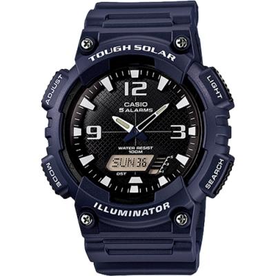 CASIO 卡西歐 太陽能電力手錶-海軍藍(AQ-S810W-2A2)